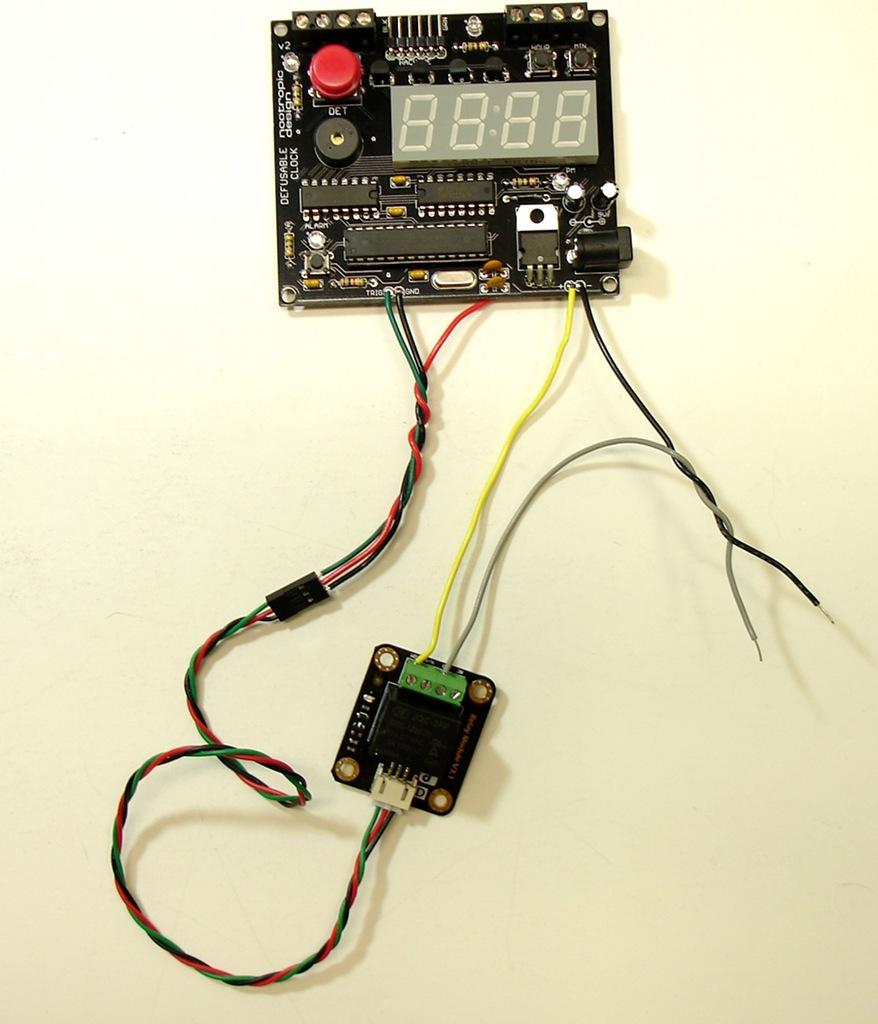 Project Lab Relay Trigger Circuit Using A With The Defusable Clock
