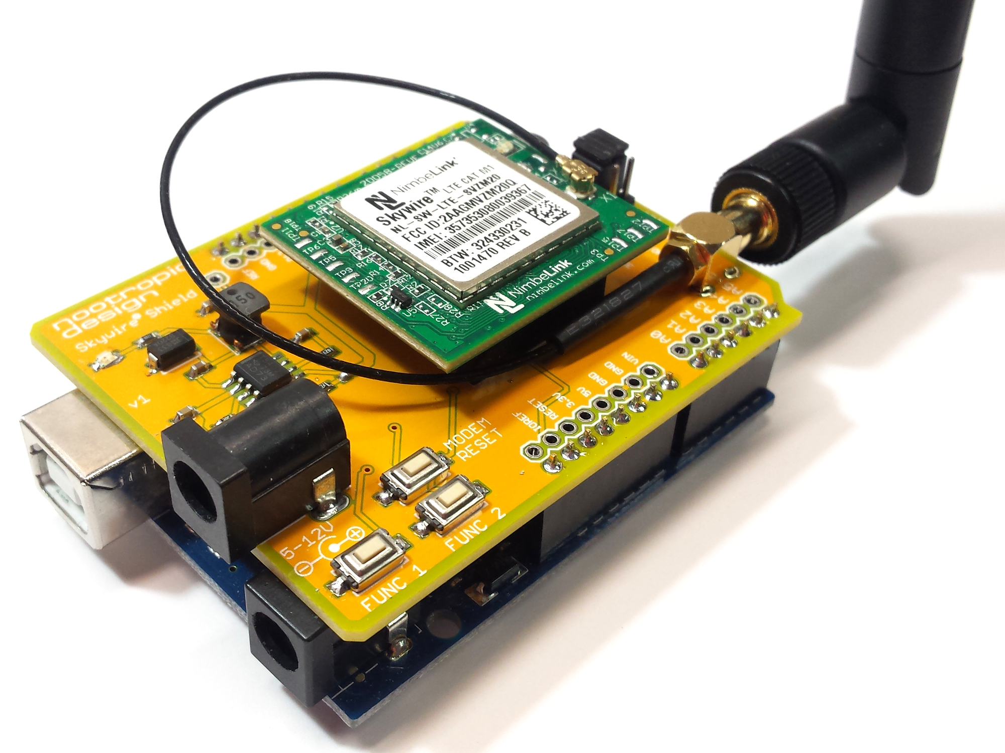 Arduino Shield for CAT M1 and NB-IoT Modems | Project Lab