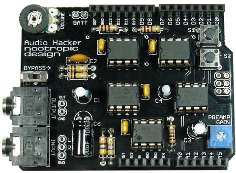 Audio Hacker: Arduino shield for realtime audio processing